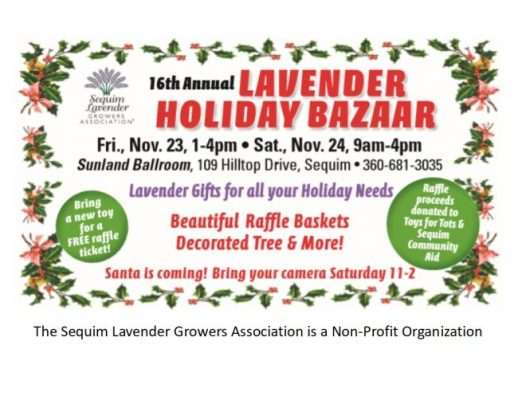 2018 holiday bazaar sequim lavender festival
