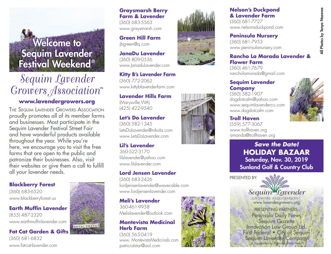 2019 Sequim Lavender Growers Association Members – Sequim Lavender